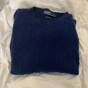 Polo by rl cableknit 100% cashmere sweater